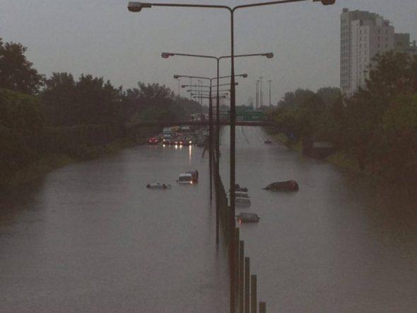 Trasa Toruńska pod wodą