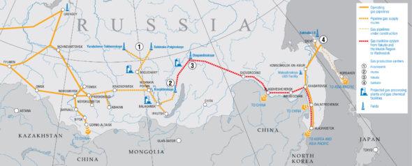 Eastern gas program Gazprom