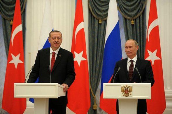 Recep Tayyip Erdogan (L) i Władimir Putin (P). Fot: Kremlin.ru