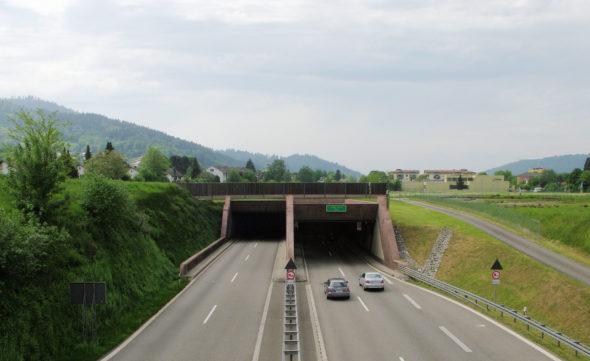 Droga B31 w okolicach Freiburga