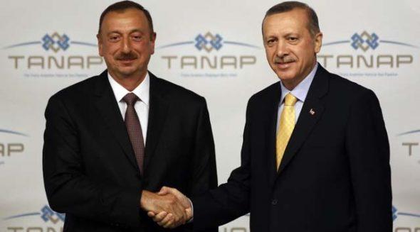 Ilham Alijew i Recep Tayip Erdogan