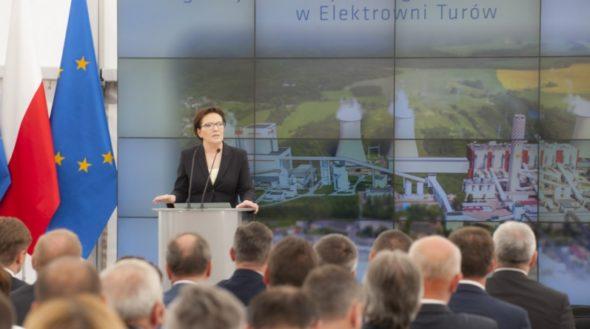 Ewa Kopacz Elektrownia Turów