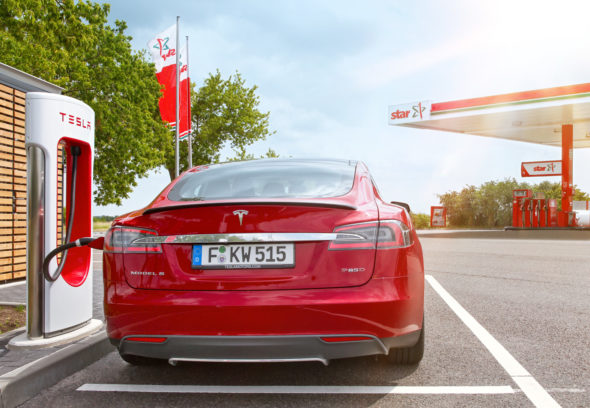Kooperation star Tesla Heck ©ORLEN Deutschland GmbH