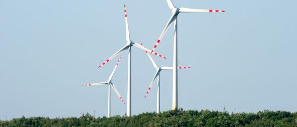 Turbiny wiatrowe farma wiatrowa Karwice PGE