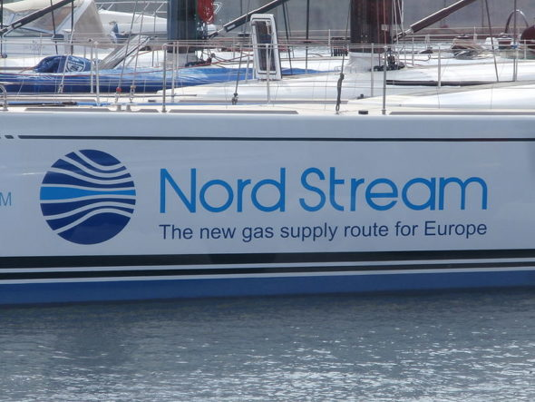 Spirit of Europe Sign 'Nord Stream – The new gas supply route for Europe', Tallinn 19 May 2014
