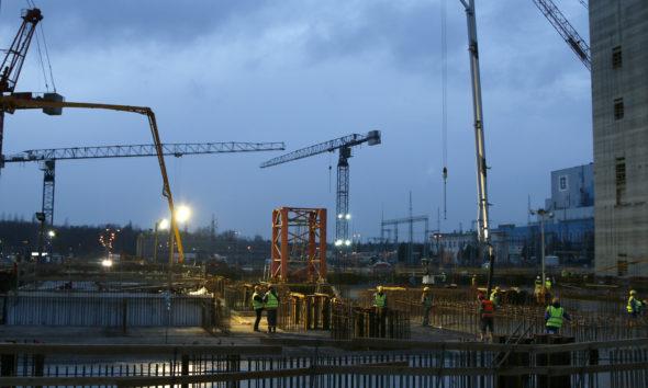 Blok Elektrownia Jaworzno betonowanie