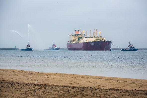 Gazowiec Al Nuaman w Świnoujściu LNG PLNG PGNIG