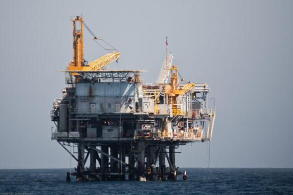 Oil Drilling Platform in the Santa Barbara CA Channel