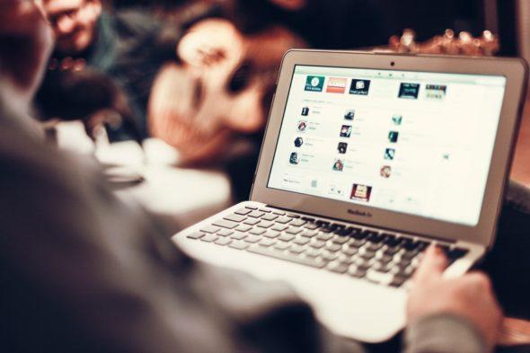laptop komputer technologie biznes