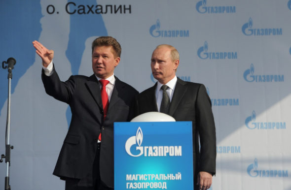 Putin Miller Gazprom