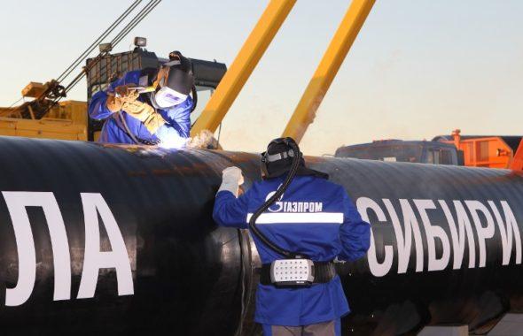 gazociąg gaz rurociąg infrastruktura gazprom siła syberii