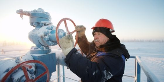 Praca przy gazociągach. Fot. Gazprom