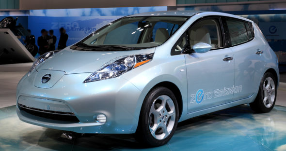Nissan Leaf at the 2009 Tokyo Motor Show (LHD) electric car