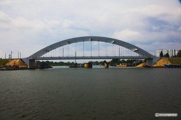 most kolejowy nad Martwą Wisłą