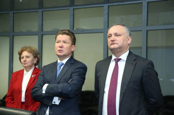 Igor Dodon i Aleksiej Miller w Gazpromie