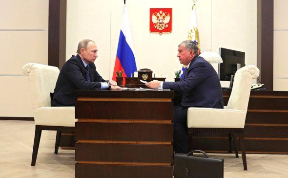 Władimir Putin i Igor Sieczin