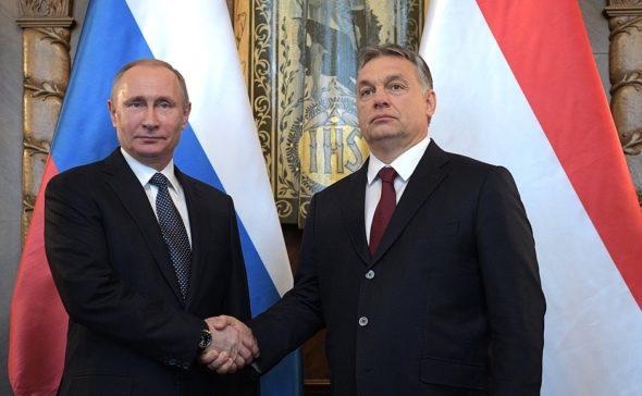 Władimir Putin i Wiktor Orban