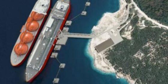 Projekt FSRU na wyspie Krk w Chorwacji. Fot. Krk LNG