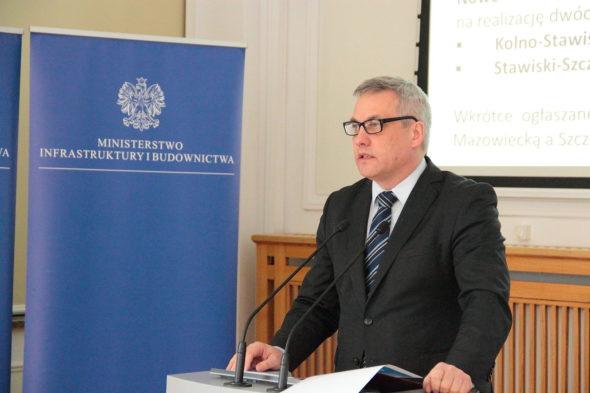 Wiceminister Infrastruktury i Budownictwa Jerzy Szmit