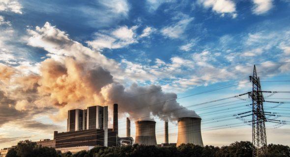 linie energia elektryczna elektrownia