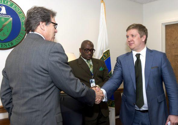 Andrij Kobolew i Rick Perry