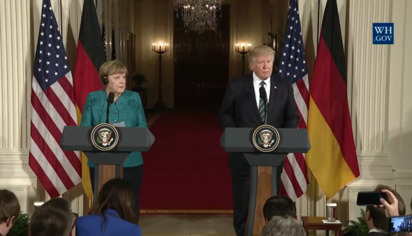 Fot.: Wikipedia, The White House; Merkel Trump