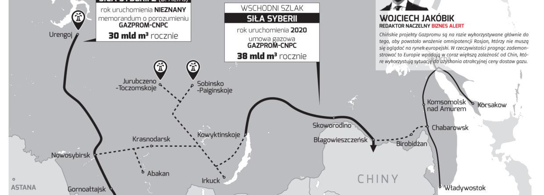 Siła Syberii 1 i 2. Grafika: BiznesAlert.pl