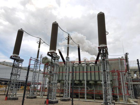 energia elektryczna , sieci Transformatorownia przy bloku PKN ORLEN w Płocku