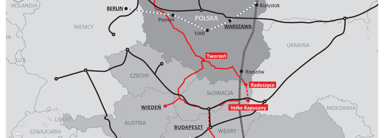 Projekty infrastrukturalne Trójmorza. Grafika: BiznesAlert.pl