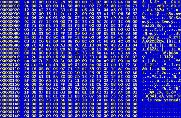 Stoned-virus-hexacode