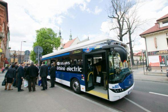 samochód Autobus elektryczny Kraków elektromobilność komunikacja miejska