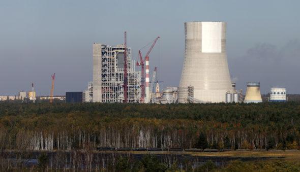 Zdjęcie z placu budowy bloku węglowego 910MW w Jaworznie. Fot. Nowe Jaworzno Grupa Tauron