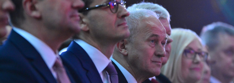 Premier Mateusz Morawiecki i minister energii Krzysztof Tchórzewski. Fot. Enea