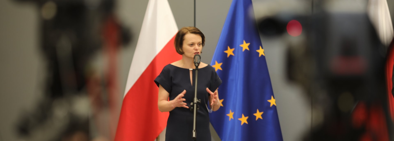 Minister Jadwiga Emilewicz. Fot. MPIT