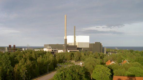 Szwedzka elektrownia jądrowa w Oskarshamns. Fot. Wiki Commons, Daniel Kihlgren