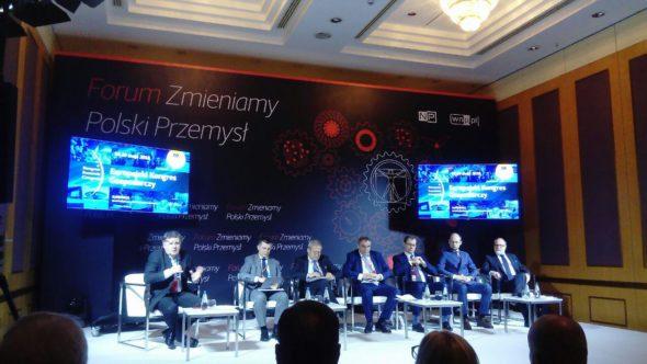 """W Warszawie odbyło się """"Forum Zmieniamy Polski Przemysł"""". Panel """"Energetyka. Rynek mocy w Polsce. Zależności, prognozy, wyzwania"""" Fot. BiznesAlert.pl"""