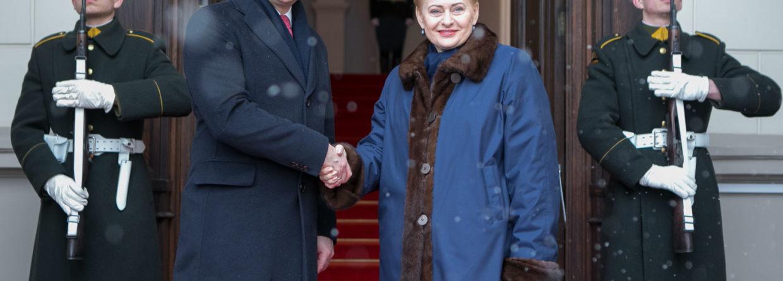 Andrzej Duda i Dalia Grybauskaite. Fot. KPRP