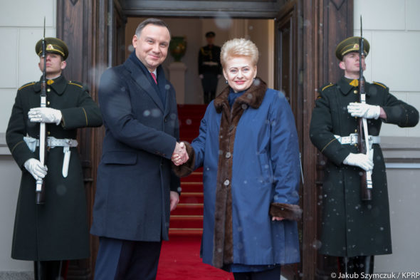 Andrzej Duda i Dalia Gerybauskaite