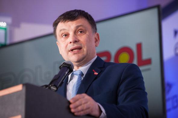 Wiceminister Środowiska, Mariusz Orion Jędrysek na konferencji POWERPOL. Fot.: POWERPOL