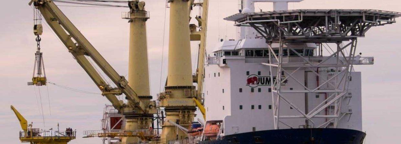 Budowa morskiej farmy wiatrowej Arkona na niemieckim Bałtyku. Fot. E.ON