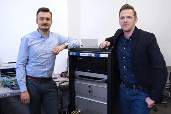 Maciej Paśnikowski i Karol Brzostowski odpowiedzialni za projekty GNSS w Astri Polska