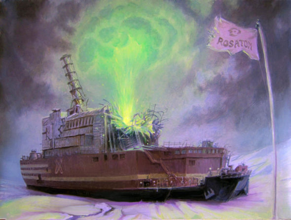 Floating Chernobyl illustration
