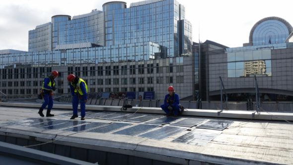 Solar Array at European Parliament in Brussels
