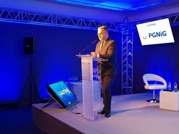 Henryk Mucha, prezes PGNiG OD na konferencji GAZTERM2018. Fot. BiznesAlert.pl