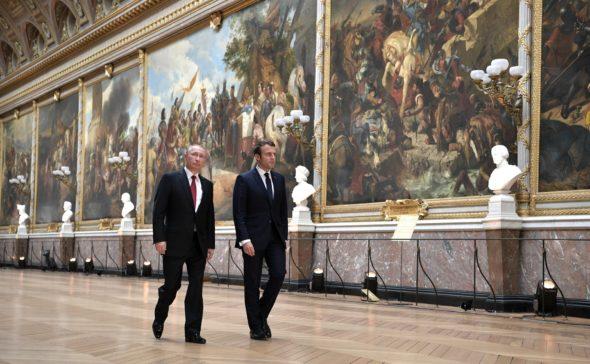 Władimir Putin Emmanuel Macron