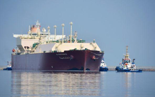 Terminal LNG, Metanowiec Al Ghashamiya  Fot. Gaz – System.