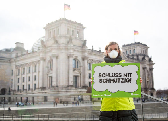 dieselgate diesel niemcy spaliny protest