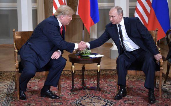 Władimir Putin Donald Trump Helsinki