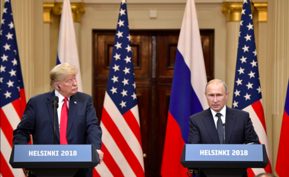 Wspólna konferencja prasowa Władimira Putina i Donalda Trumpa. Źródło: Kremlin.ru