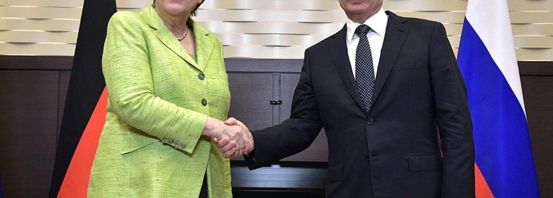 Angela Merkel i Władimir Putin. Fot. Kremlin.ru